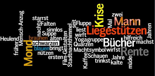 Wordle Mann in der Krise
