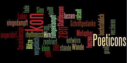 "Wordle zum Gedicht ""Poeticons"""